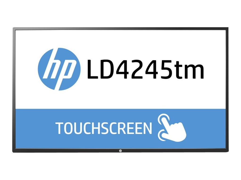 HP 41.9 LD4245tm Full HD LED-LCD Touchscreen Display, Black, F1M93AA#ABA, 17356476, Monitors - Large-Format LED-LCD