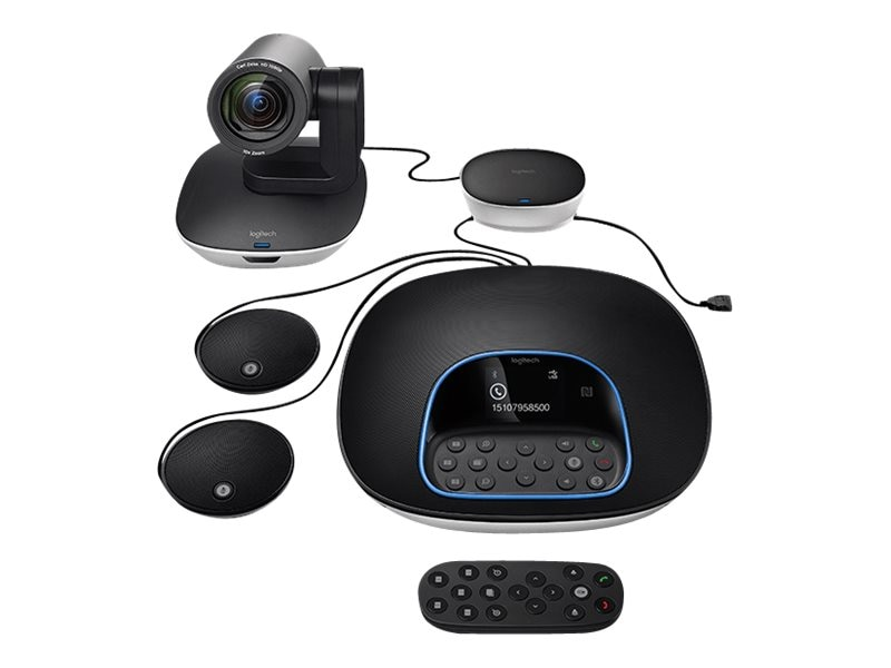 Logitech Group Video Conferencing Collaboration System with Expansion Mics, 960-001060
