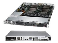 Supermicro SuperServer Barebones 1U RM Xeon E5-4600 Family(x4) Max.1TB DDR3 3x3.5 HS Bays PCIe GNIC 1400W