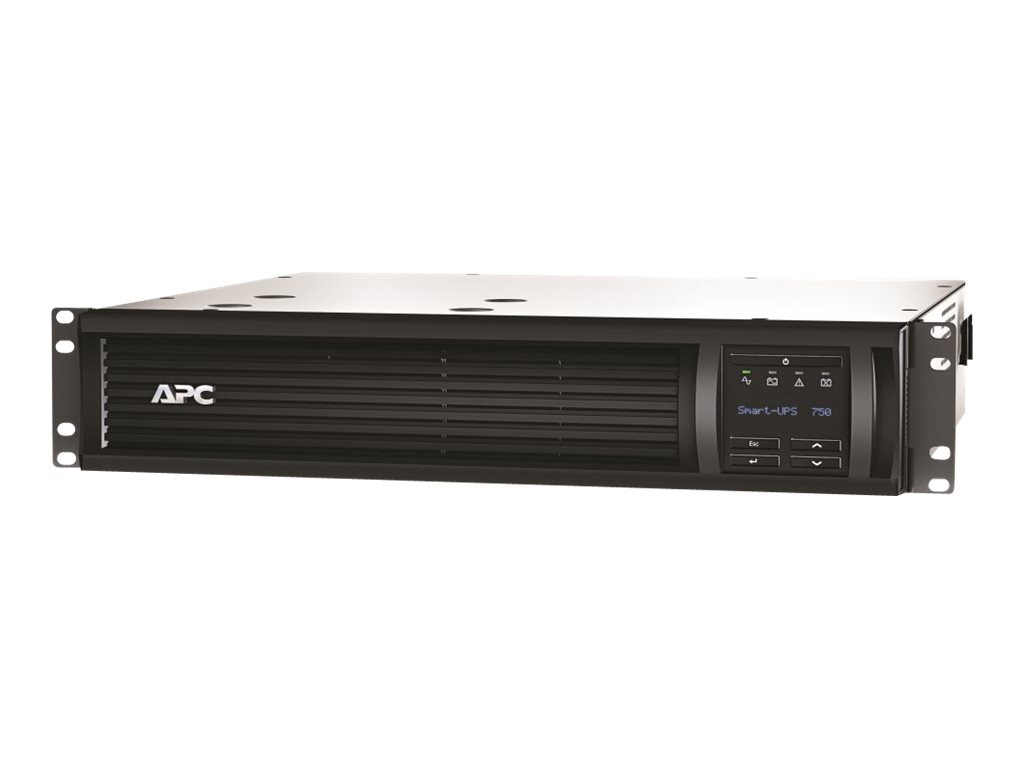 APC Smart-UPS 750VA 500W 120V LCD 2U RM UPS (6) 5-15R Outlets Web SNMP Card, SMT750R2-NMC, 15801601, Battery Backup/UPS