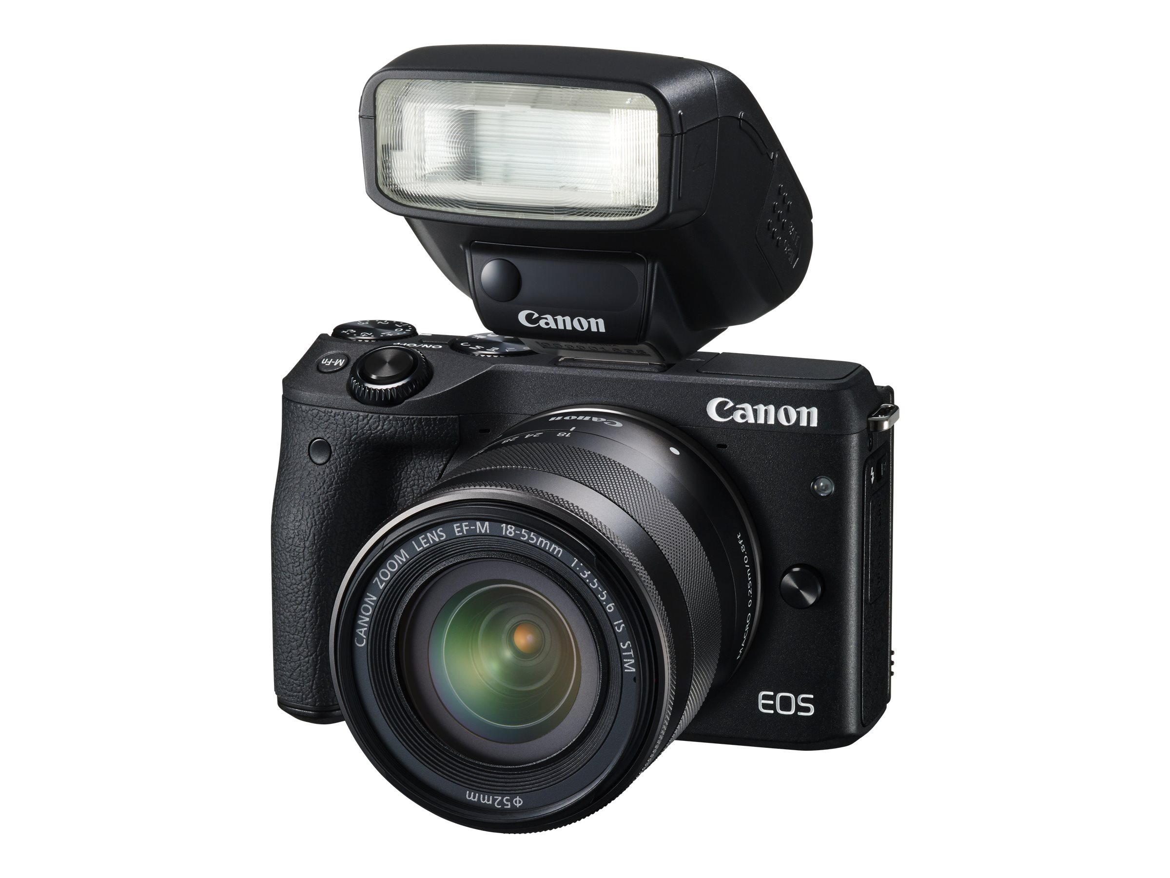 Canon EOS M3 Mirrorless Digital Camera with 18-55mm Lens, Black, 9694B011