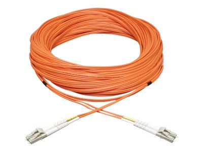 Tripp Lite Fiber Patch Cable, LC-LC, 50 125, Duplex, MM, Orange, 115ft, N520-35M