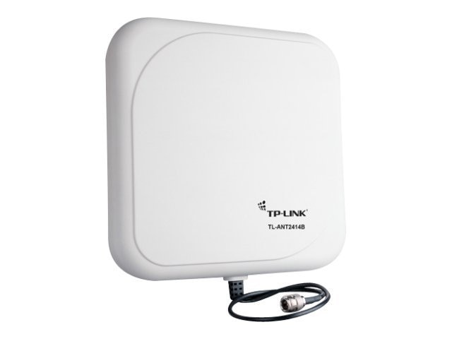 TP-LINK 2.4GHz 14dBi Outdoor Directional Antenna, N Female Connector, with 3ft Cable, TL-ANT2414B