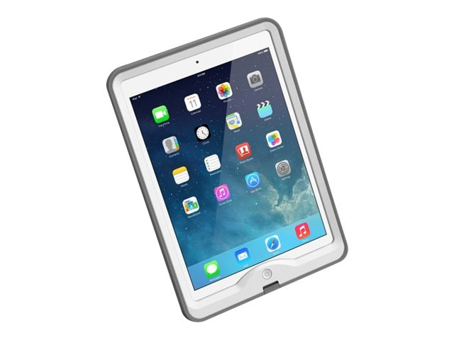 Lifeproof Nuud Case for iPad Air 1st Gen, White Gray, 1901-02, 18659188, Carrying Cases - Tablets & eReaders