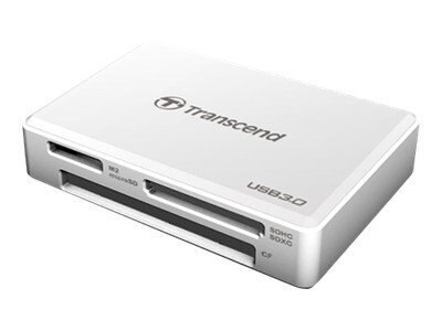 Transcend All-In-One USB 3.0 Super Speed Multi-Card Reader, White, TS-RDF8W
