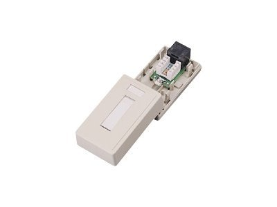 C2G 1-port Cat5e RJ-45 Surface Mount Box, 03835, 390506, Premise Wiring Equipment