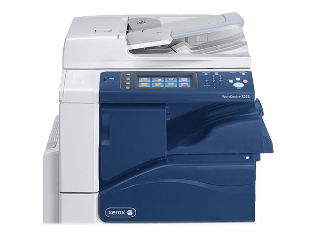 Xerox WC7225I MFP w  Stand, (2) 520 Sheet Trays & 50-Sheet Bypass Tray, 7225/PXF2I