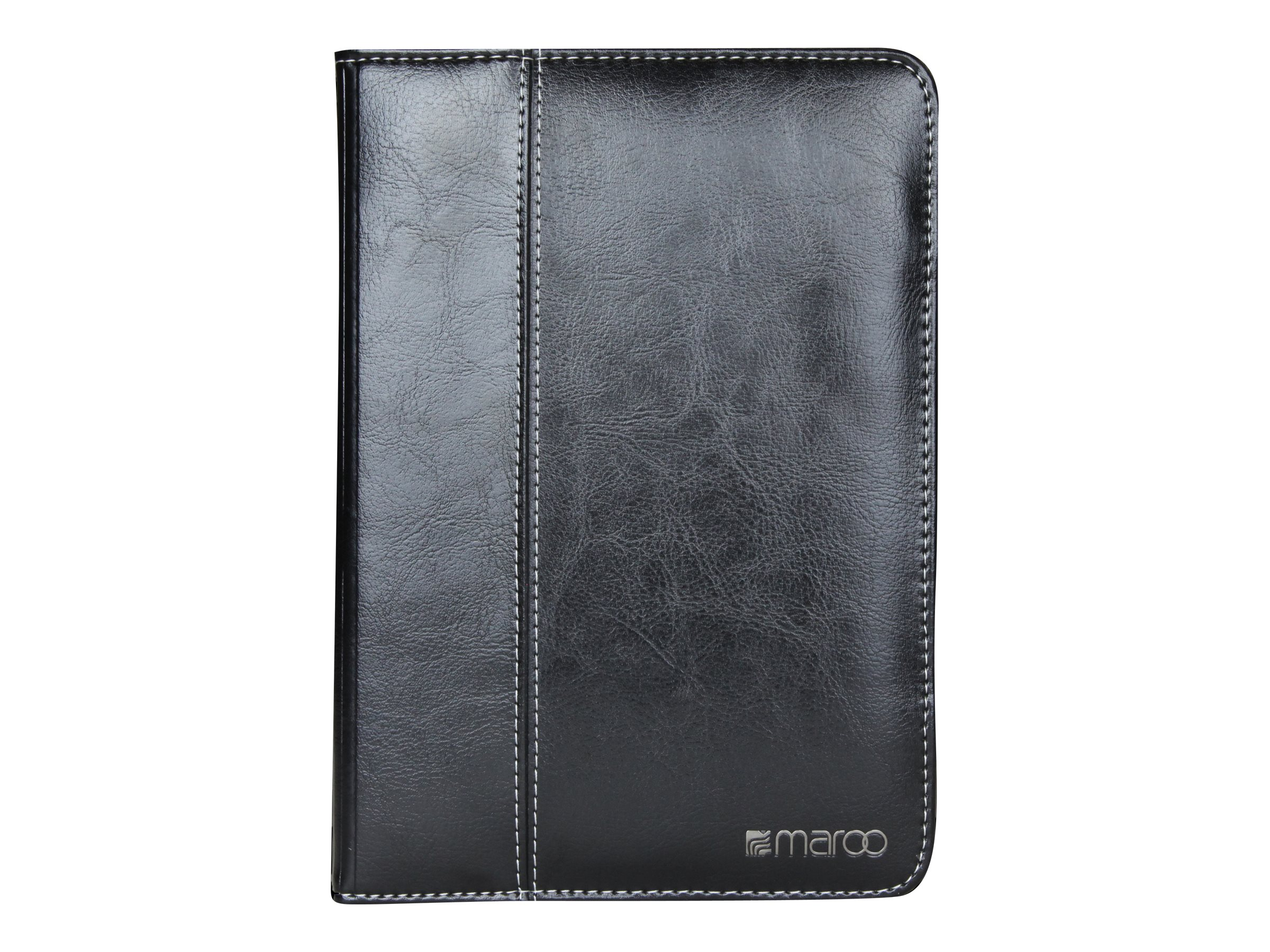 Cyber Acoustics Leather Folio for iPad mini 4, Maroo, Black