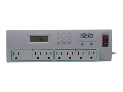 Tripp Lite ECO Home Business Theater Surge Suppressor, (7) Outlets, 8ft Cord, 2100J, USB Ports, Timer Control, TLP78TUSBG