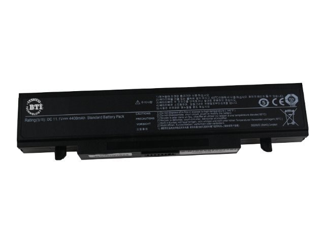 BTI Battery, Li-Ion 11.1V 4400mAh 6-cell for Samsung R420 R430 R470 R480, SAG-R580