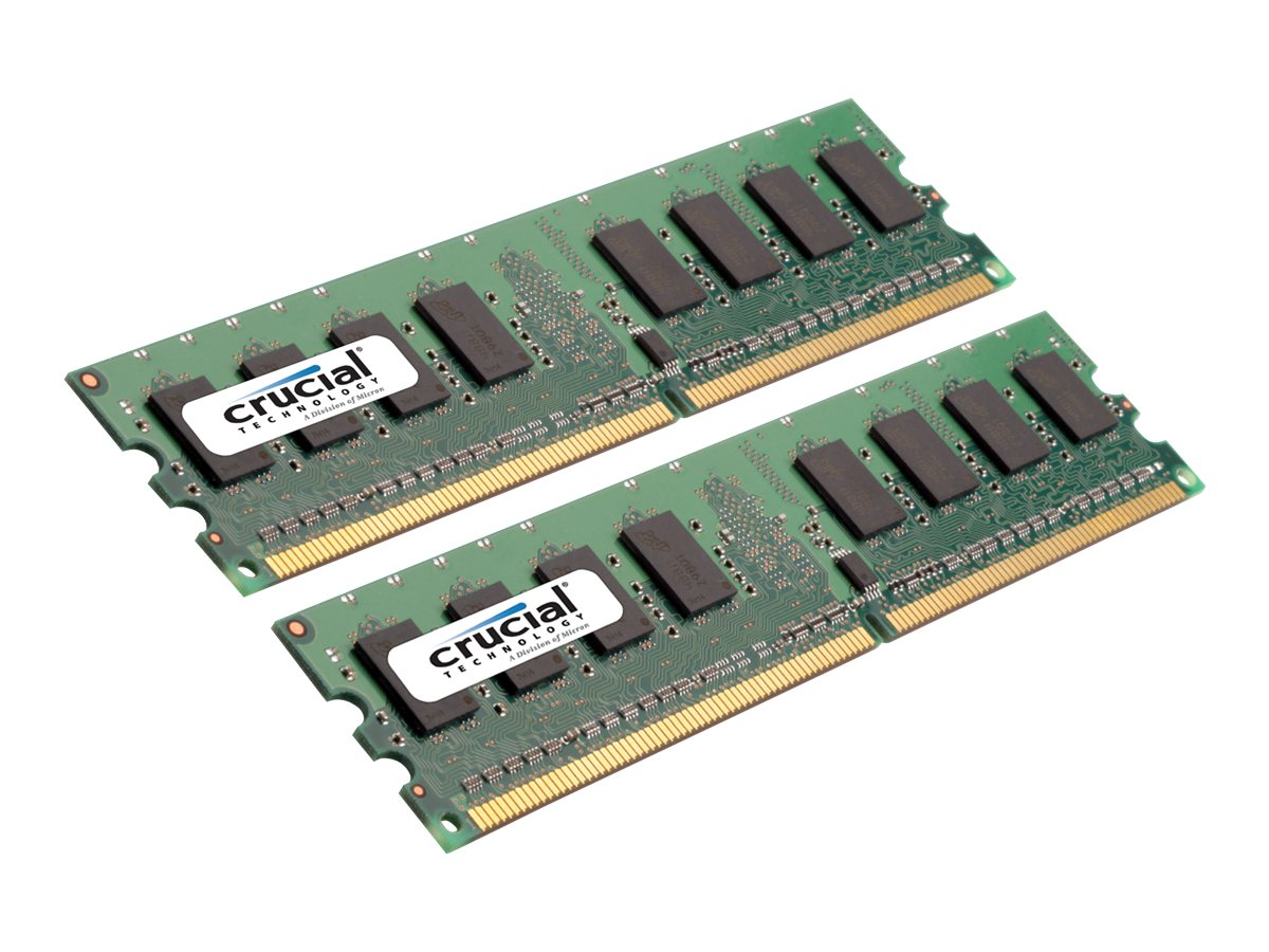 Crucial 2GB PC2-5300 240-pin DDR2 SDRAM UDIMM Kit