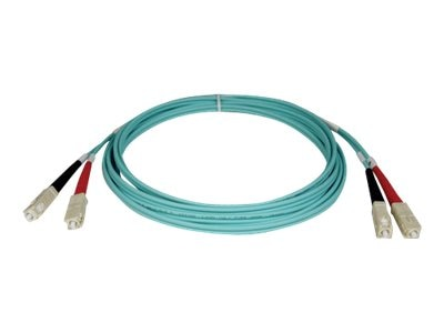 Tripp Lite Fiber 10Gb Patch Cable, SC SC, 50 125, Duplex, Multimode, Aqua, 3m, N806-03M, 5825301, Cables