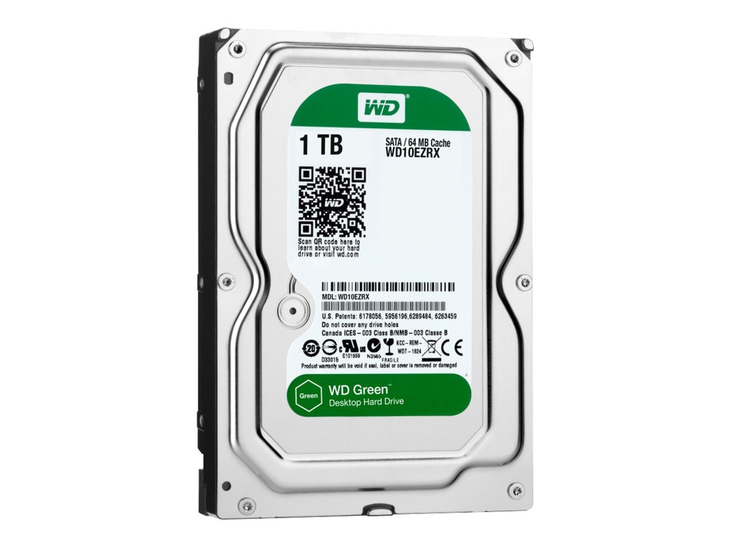 WD 1TB WD Caviar Green SATA 6Gb s 3.5 Internal Hard Drive - 64MB Cache, WD10EZRX, 13474539, Hard Drives - Internal