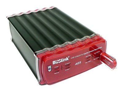 Buslink Media 6TB USB 3.0 eSATA NIST HIPPA 128-Bit AES Encrypted Hard Drive