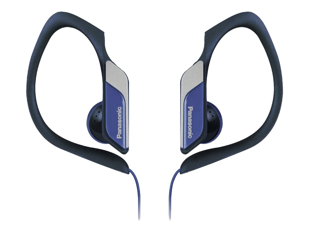 Panasonic HS34 Water Sweat Resistant Sports Clip Earbud - Blue, RP-HS34-A