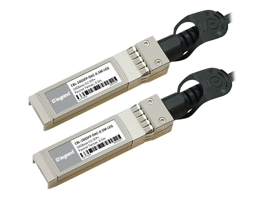 C2G Dell Compatible 10GBASE-CU SFP+ to SFP+ Direct Attach Passive Twinax Cable, 0.5m, TAA