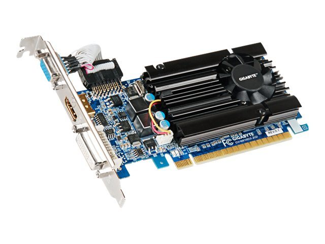 Gigabyte Tech GeForce GT 610 PCIe 2.0 Graphics Card, 2GB DDR3, GV-N610D3-2GI, 15552001, Graphics/Video Accelerators