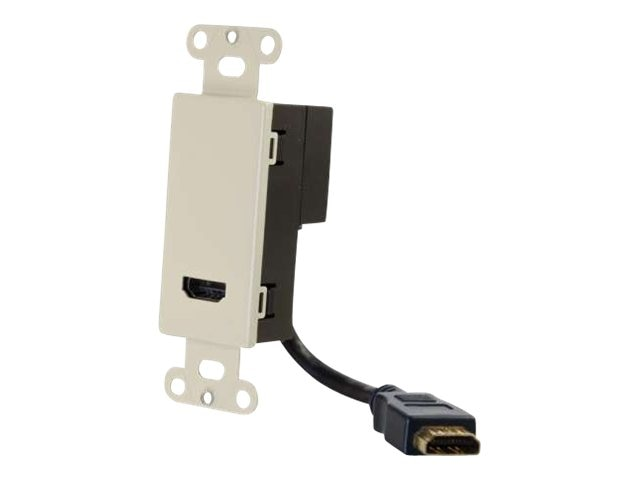 C2G HDMI Pass Through Wall Plate - Ivory, 41044, 16127647, Premise Wiring Equipment
