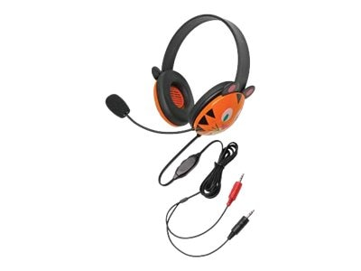 Listening First Stereo Headset with Dual 3.5mm Plugs, Tiger