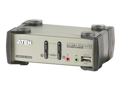 Aten 2-Port USB KVMP Switch with Audio Support, USB 2.0 Hub, CS1732B, 8672944, KVM Switches