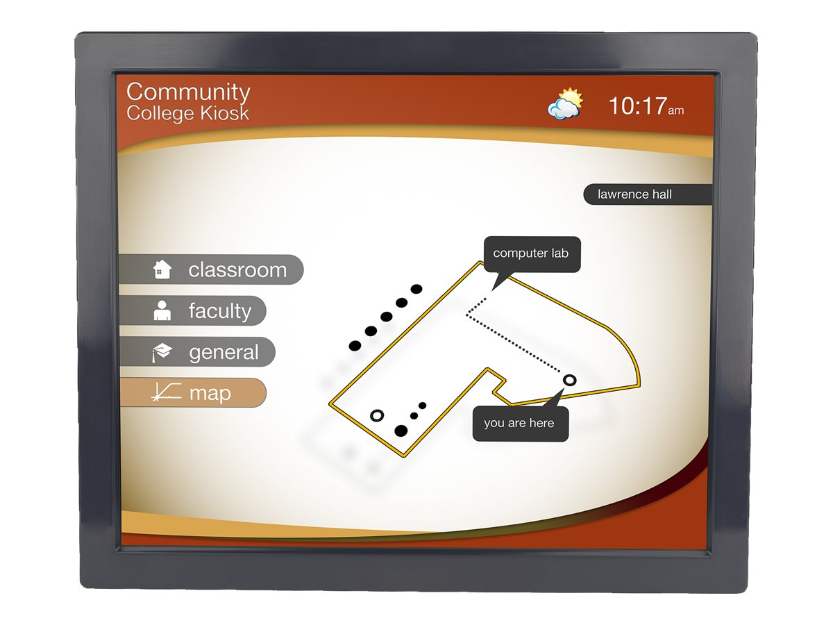 Planar 19 LA1950RTS LED-LCD SAW Touchscreen Open Frame Display, 997-6289-00LF