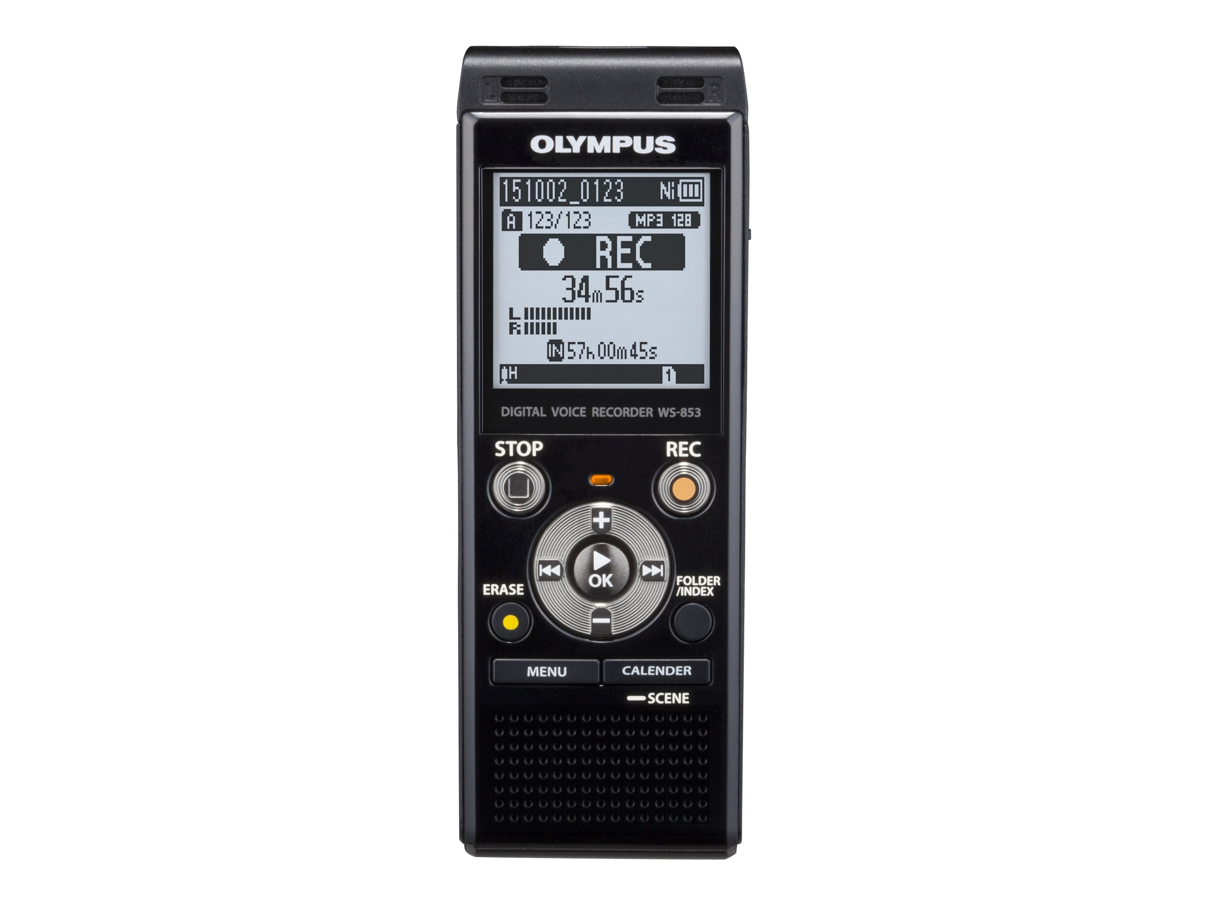 Olympus WS-853 8GB Digital Voice Recorder - 8 GBmicroSD                         Card Supported - MP3