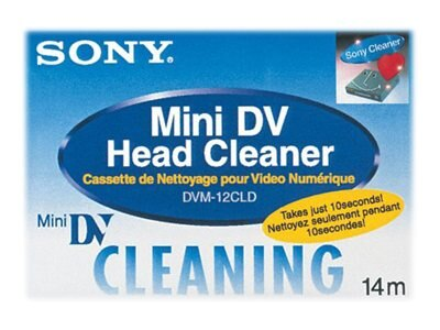 Sony Digital Video Head Cleaning Cassette DVM12CLD MiniDV Cleaning Tape, DVM12CLD, 379992, Camera & Camcorder Accessories