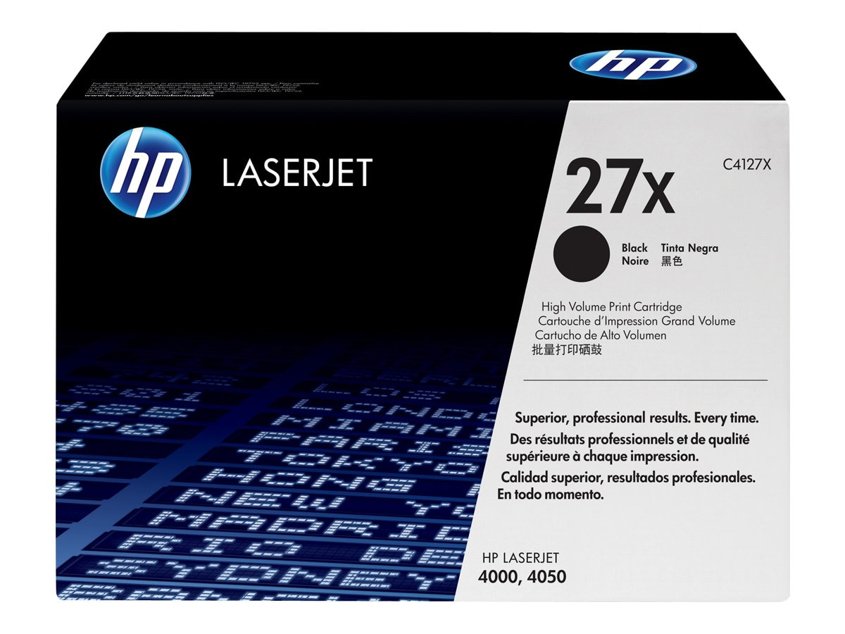 HP 27X (C4127X) High Yield Black Original LaserJet Toner Cartridge for HP LaserJet 4000 & 4050 (3-pack), C4127X/3PK, 16828603, Toner and Imaging Components