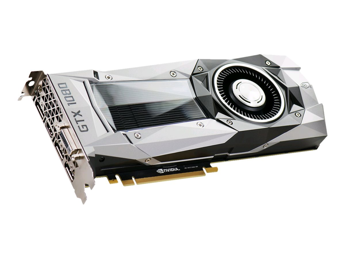 eVGA GeForce GTX 1080 PCIe 3.0 x16 Founders Edition Graphics Card, 8GB GDDR5X, 08G-P4-6180-KR