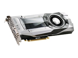 eVGA GeForce GTX 1080 PCIe 3.0 x16 Founders Edition Graphics Card, 8GB GDDR5X, 08G-P4-6180-KR, 32048391, Graphics/Video Accelerators