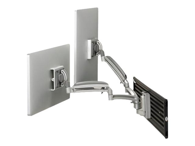Chief Manufacturing Kontour K1S Dynamic Slat-Wall Mount, 2 Monitors - Silver (TAA Compliant)