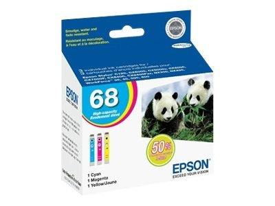 Epson Color 68 High Capacity Ink Cartridges (Multipack), T068520, 9831610, Ink Cartridges & Ink Refill Kits