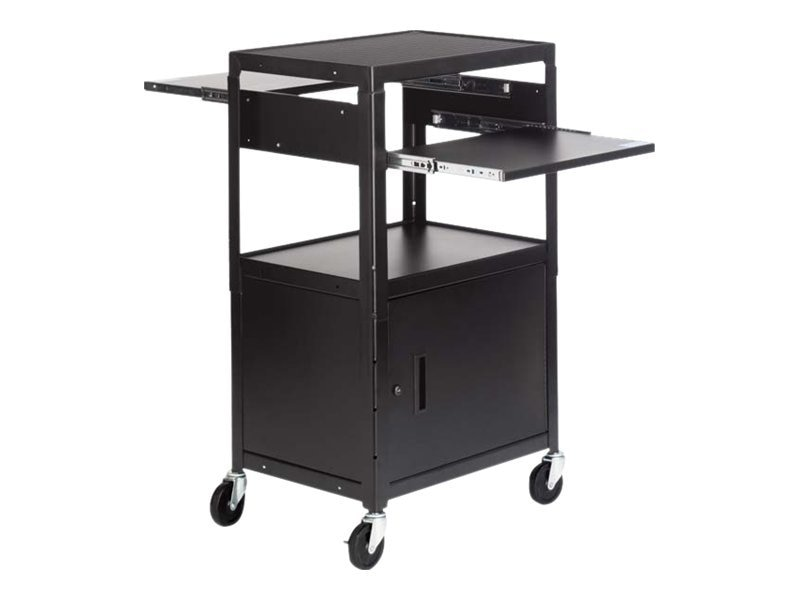 Bretford Manufacturing Multimedia Cable Cart, 4in Casters, 6 Outlets, Black, CA2642DNSE, 13503686, Computer Carts