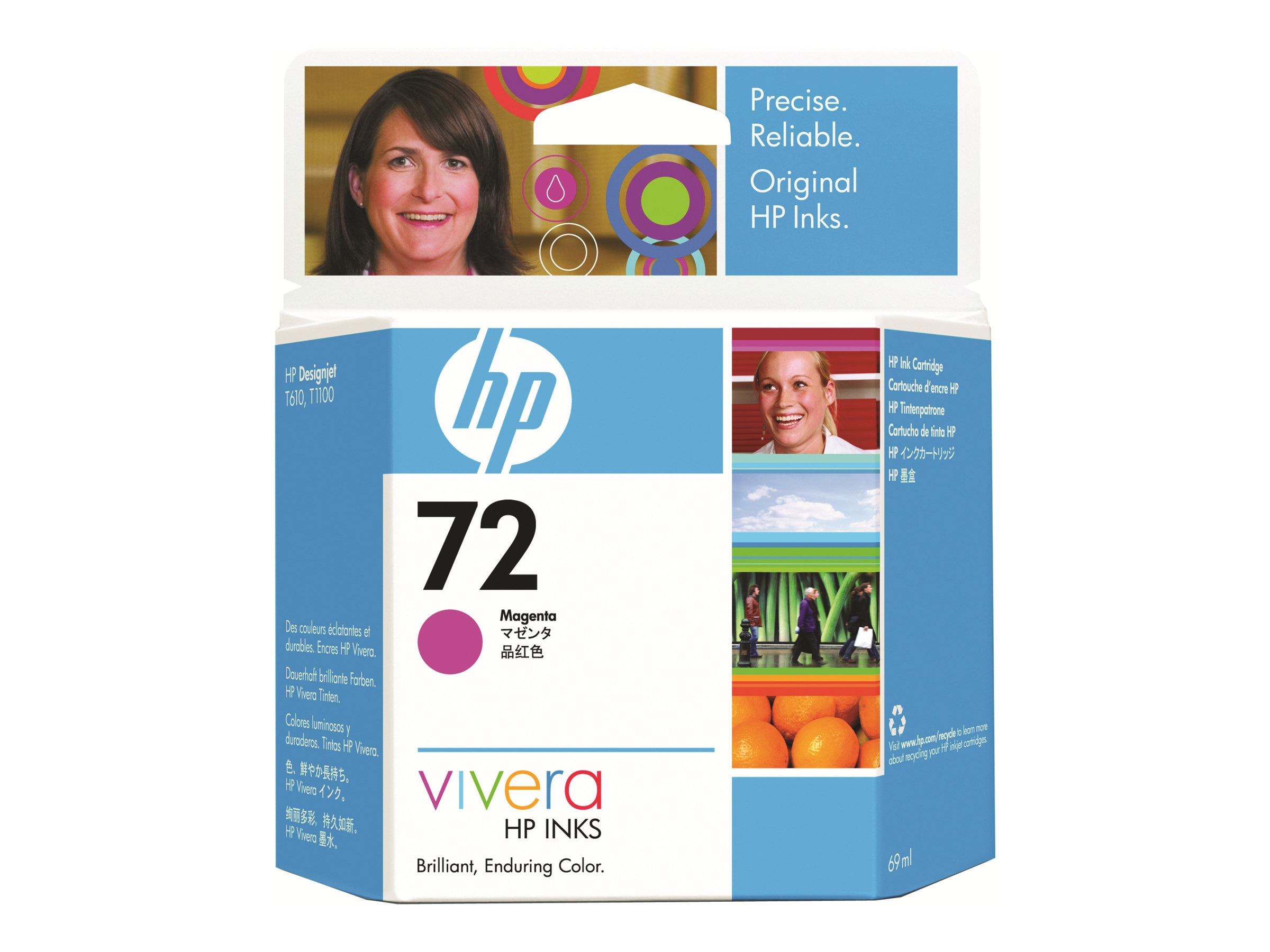 HP 72 Magenta Ink Cartridge (69ml)