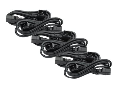 APC Power Cord Kit, 16A, 208 230V, C19 to C20R, 6ft, Pack of 6, AP98896F, 9059658, Power Cords