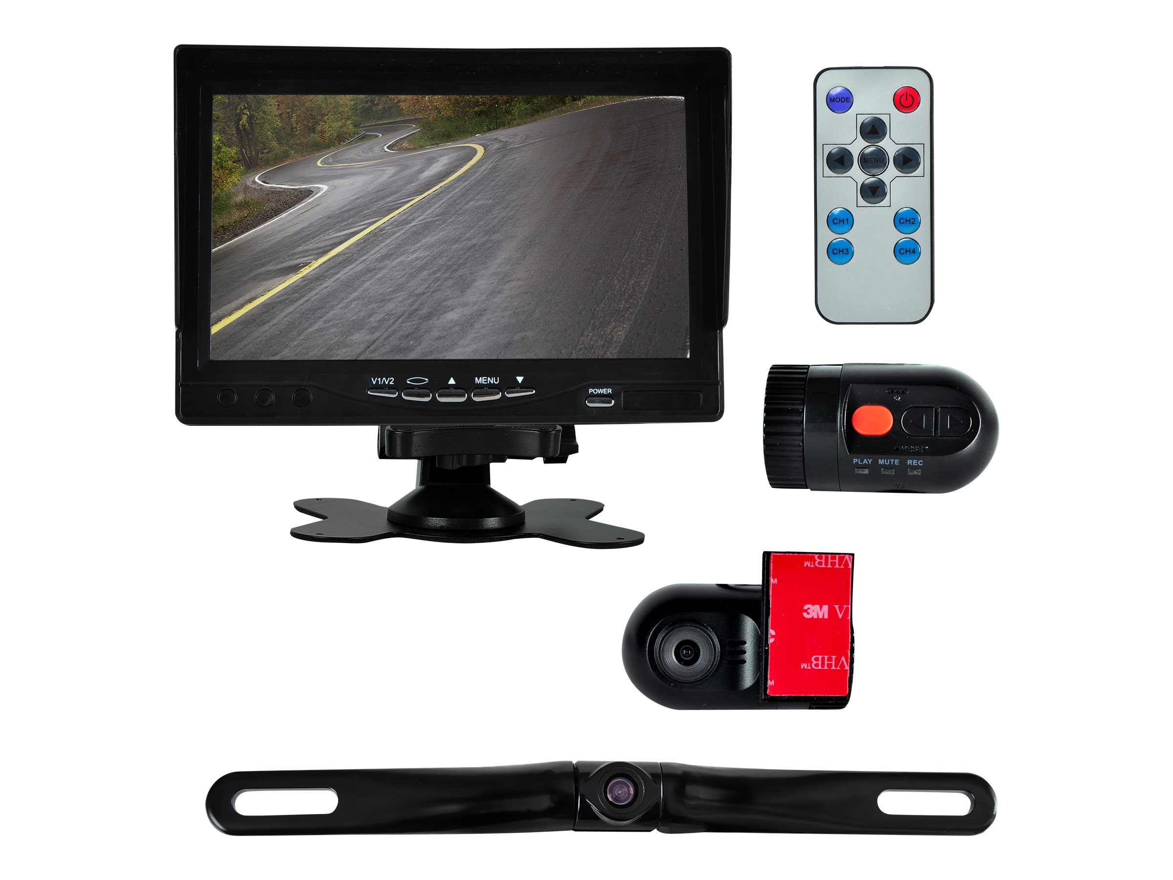Pyle DVR Dash Camera Vehicle Driving Video Camera & Monitor System 7, PLCMDVR72