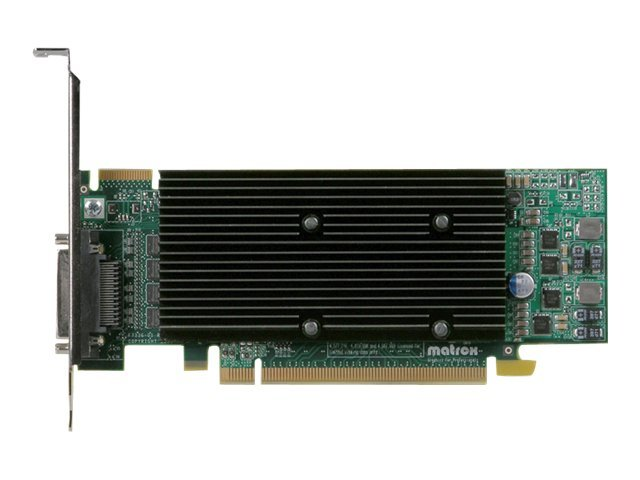 Matrox M9140 LP Quad Head Graphics Card, PCI Express, 512MB, M9140-E512LAF
