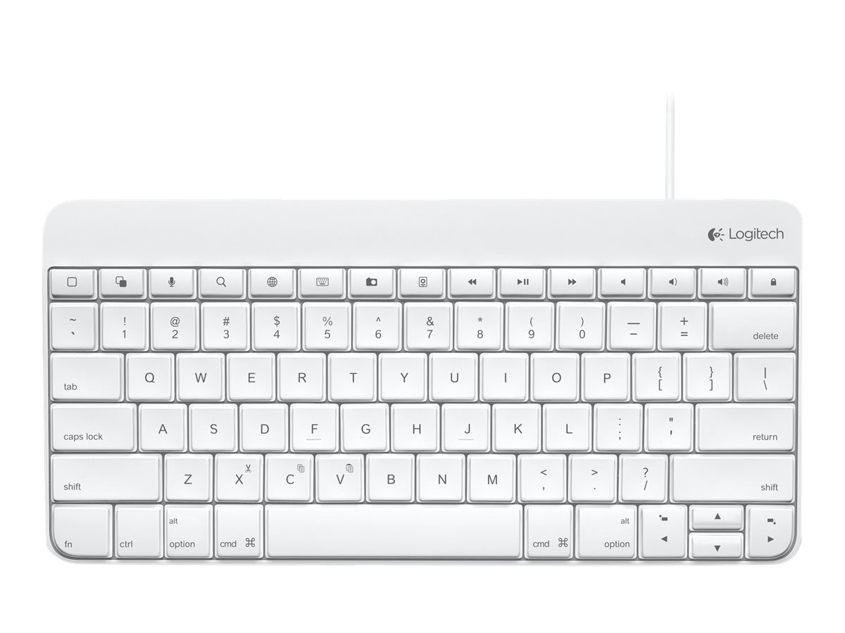 Logitech Wired Keyboard for iPad w  30-pin Connector, 920-006340