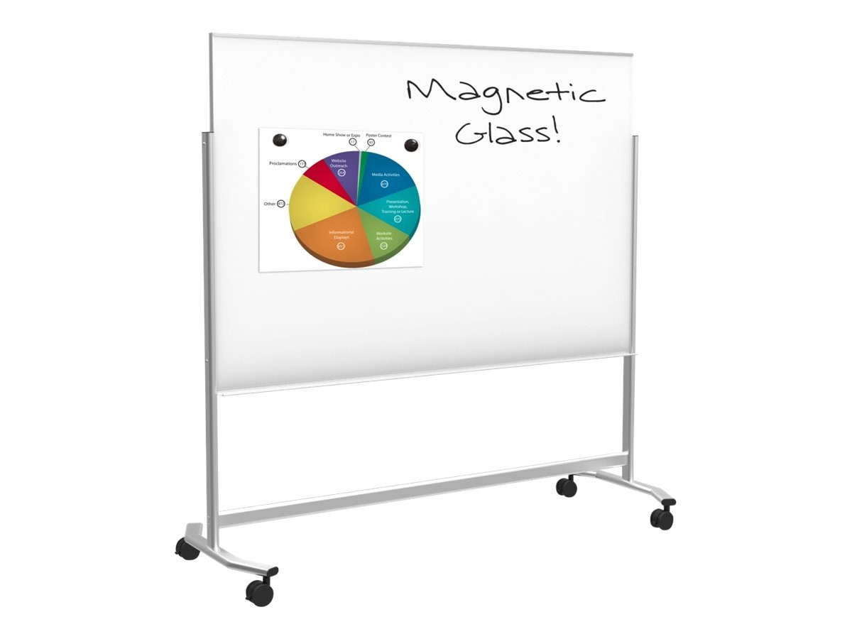 Balt Visionary Move Mobile Magnetic Glass for Whiteboard 4x6ft, 74951