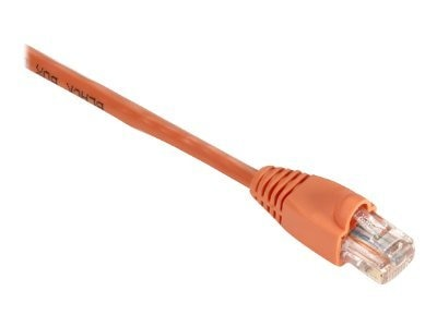 Black Box GigaBase 350MHz CAT5E Snagless Booted Patch Cable, Orange, 15ft