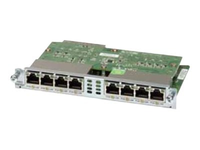 Cisco 8-port 10 100 1000 Ethernet Switch Interface Card, EHWIC-D-8ESG=, 11944154, Network Device Modules & Accessories