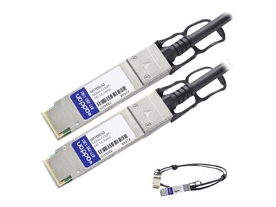 ACP-EP 40GBase-CU QSFP+ to QSFP+ Direct Attach Passive Twinax Cable for IBM, 1m, 49Y7890-AO, 18191036, Cables