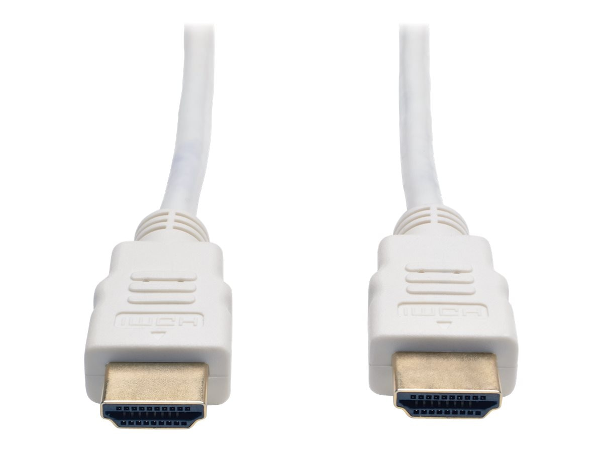 Tripp Lite Ultra HD 4Kx2K High Speed HDMI M M Digital Video Cable with Audio, White, 3ft