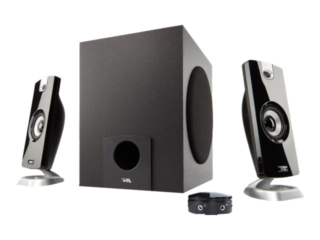 Lenovo Cyber Acoustics CA 3090 Game 2.1-Channel PC Multimedia Speaker System (26 Watt Total) - Black, 78000094