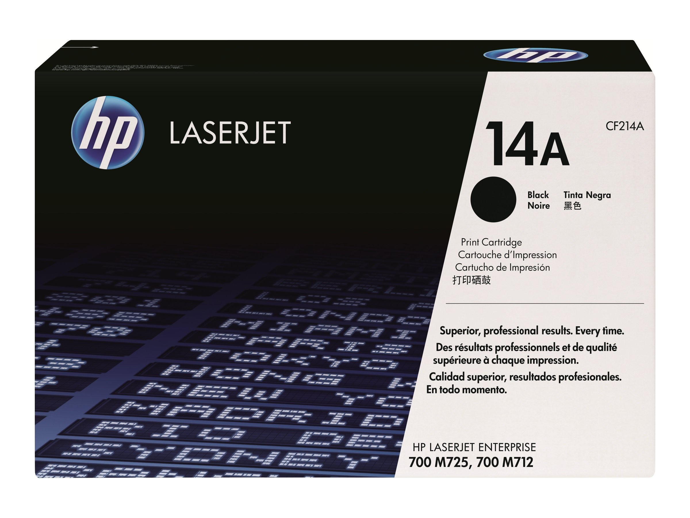 HP 14A (CF214A) Black Original LaserJet Toner Cartridge, CF214A, 14831876, Toner and Imaging Components