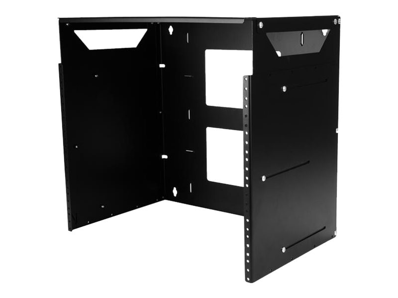 StarTech.com 8U Wall-Mount Solid Steel Server Rack w Built-in Shelf, WALLSHELF8U