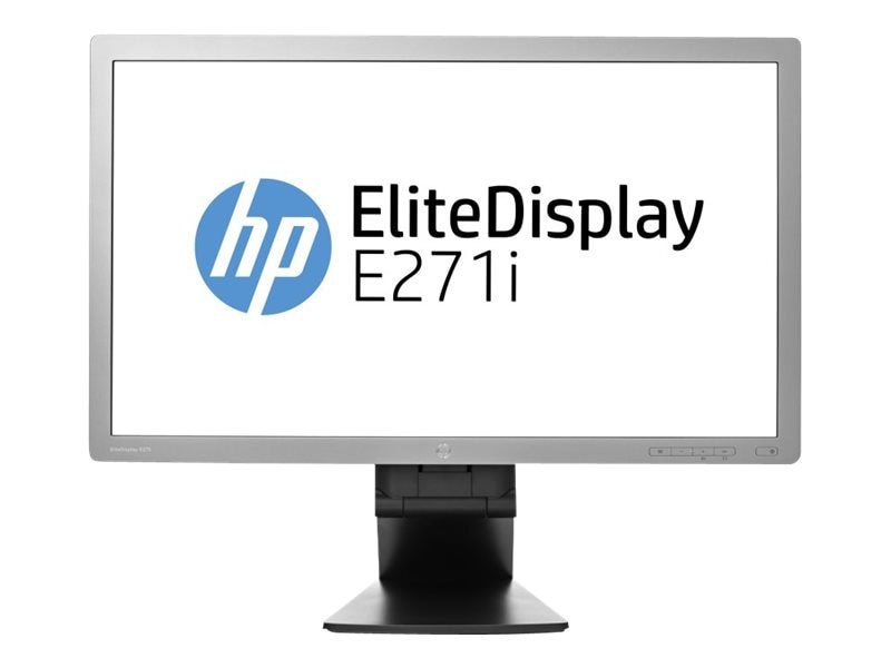 HP 27 E271i LED-LCD Full HD Monitor, Black, D7Z72AA#ABA, 16068034, Monitors - LED-LCD