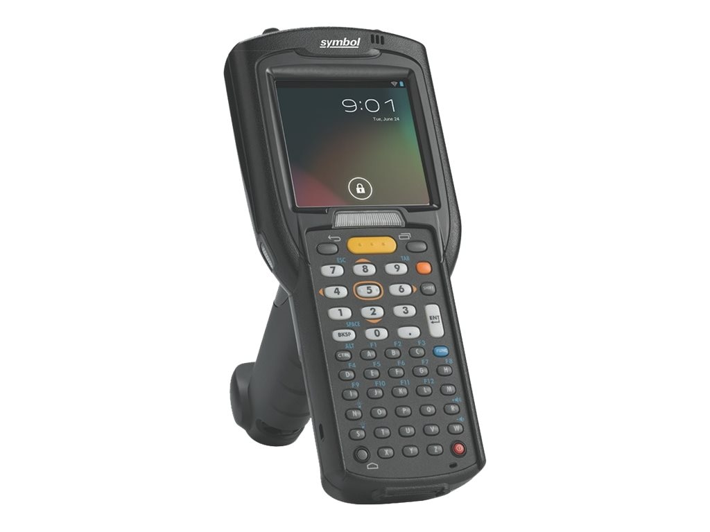 Zebra Symbol MC3200 Straight Shooter, 1D Laser, WEC 7, 48-key Keypad, Wi-Fi, Bluetooth, High Cap Battery, MC32N0-SL4HCLE0A