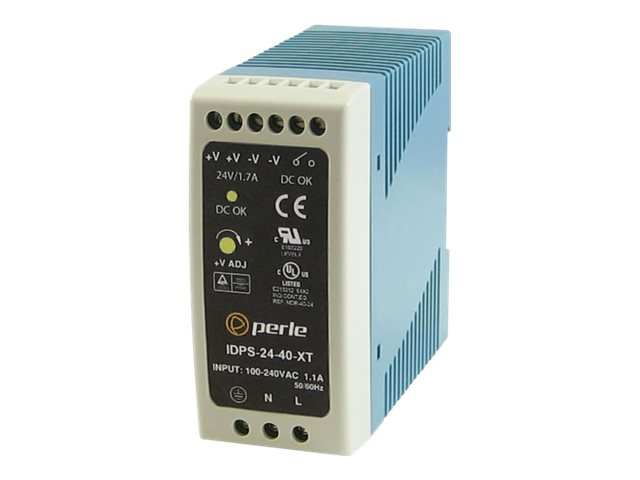 Perle 40W 24V IDPS-24-40-XT Power Supply For DIN RAIL, 07012030, 16896825, Network Device Modules & Accessories
