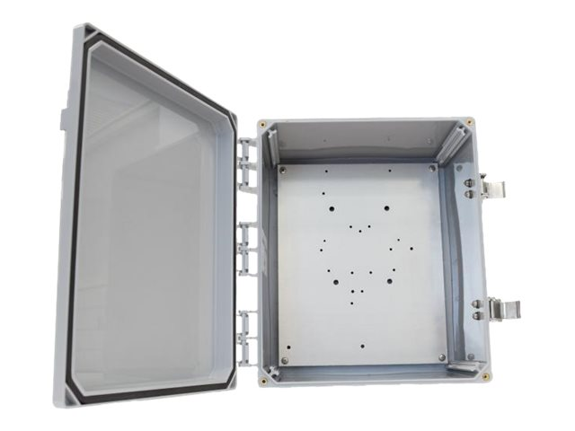 Tessco Enclosure 12 x 10 x 6 w  Solid Door, Latching Locks, (4) RPTNC Holes, Cisco Backplate, CV12106LO-4.5, 28178564, Racks & Cabinets